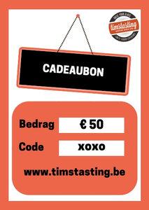 TimsTasting cadeaubon 50