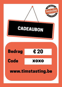 TimsTasting cadeaubon 20